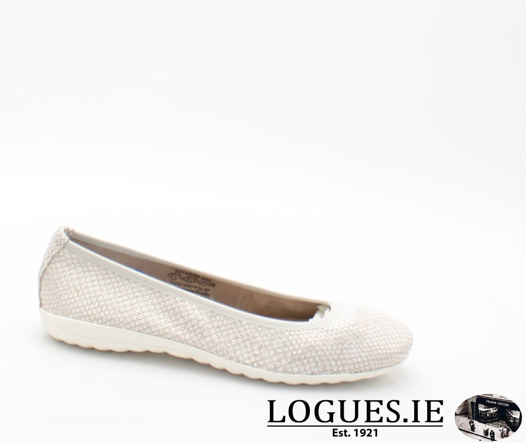 22142 CAPRICE SS18LadiesLogues Shoes206 LIGHT GREY / 36 = 3 UK