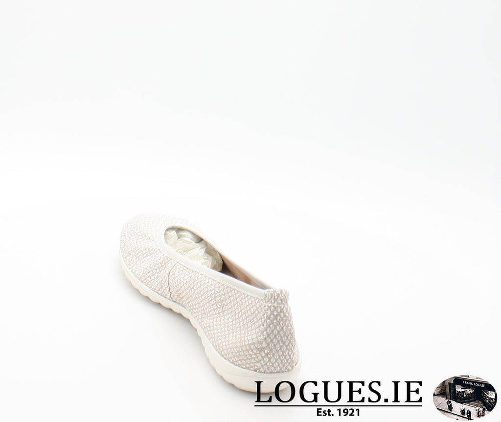 22142 CAPRICE SS18LadiesLogues Shoes206 LIGHT GREY / 42 = 8 UK