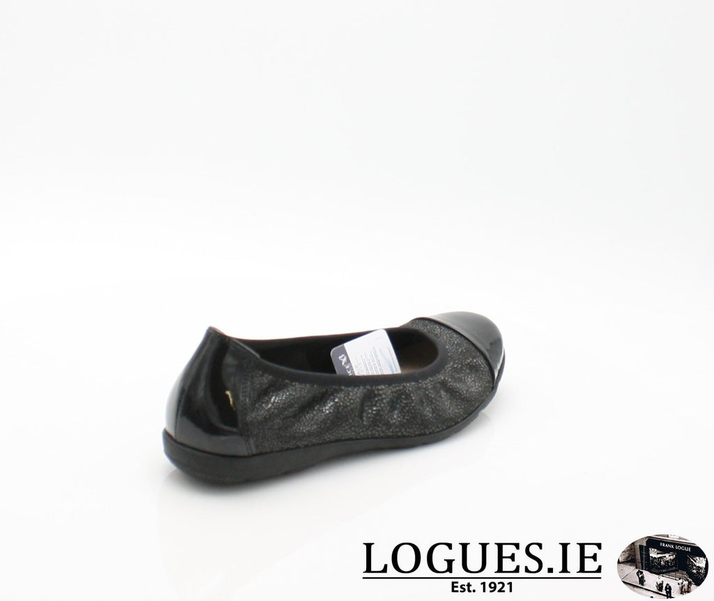 22152 CAPRICE SS18LadiesLogues Shoes011 BLACK MULTI / 42 = 8 UK