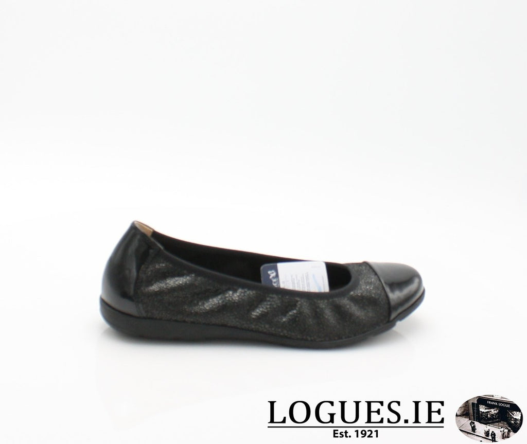 22152 CAPRICE SS18LadiesLogues Shoes011 BLACK MULTI / 43 = 9 UK