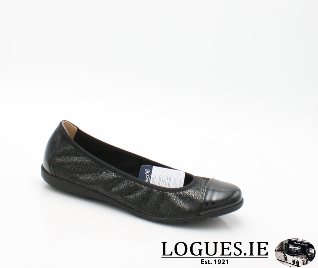 22152 CAPRICE SS18LadiesLogues Shoes011 BLACK MULTI / 36 = 3 UK