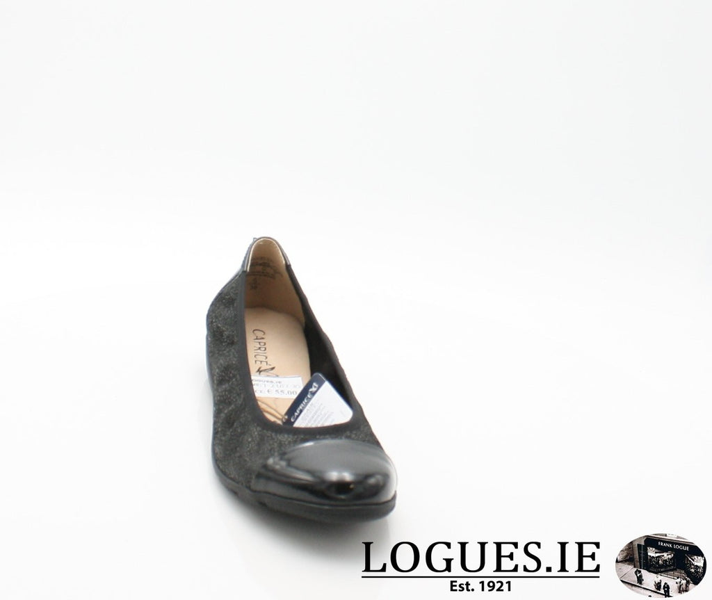 22152 CAPRICE SS18LadiesLogues Shoes011 BLACK MULTI / 37 = 4 UK