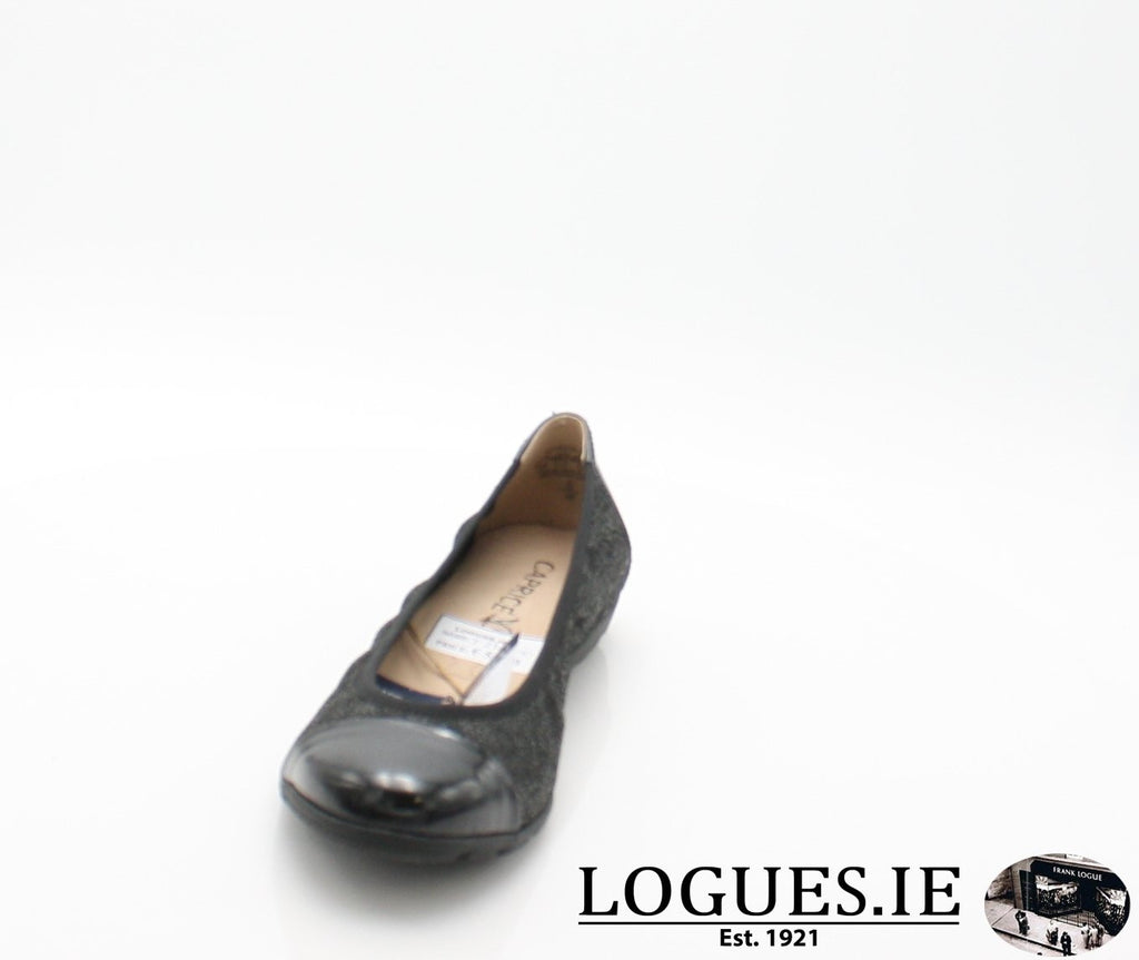 22152 CAPRICE SS18LadiesLogues Shoes011 BLACK MULTI / 38 = 5UK