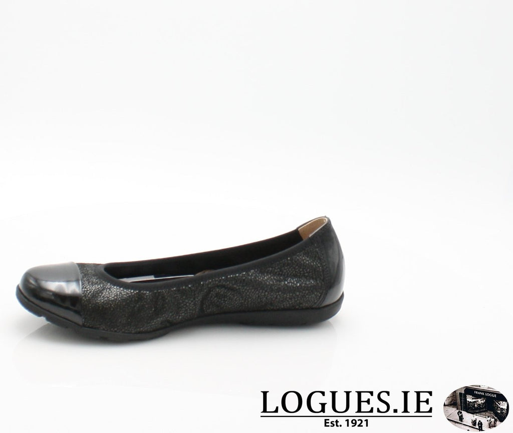 22152 CAPRICE SS18LadiesLogues Shoes011 BLACK MULTI / 39 = 6 UK