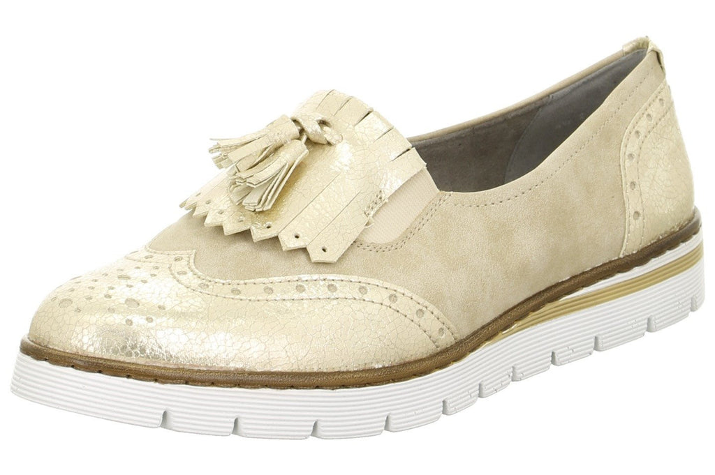 ARA 50434 PortmoreLadiesLogues Shoes22 75 Platin,Cotton / 9 / synthetic