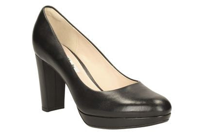 CLA Kendra Sienna-Ladies-Clarks-Black Leather-025-D-Logues Shoes