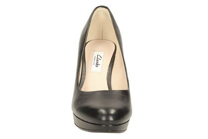 CLA Kendra Sienna-Ladies-Clarks-Black Leather-020-D-Logues Shoes