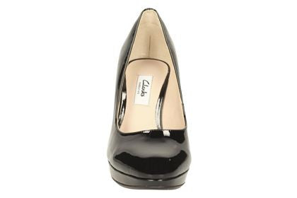 CLA Kendra Sienna-Ladies-Clarks-Black Pat-020-D-Logues Shoes