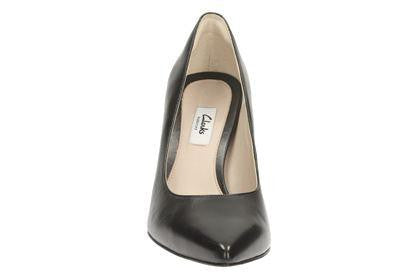 CLA Dinah Keer-Ladies-Clarks-Black Pat-030-D-Logues Shoes