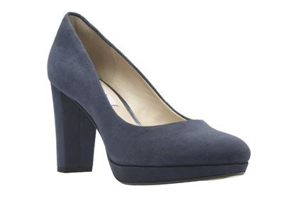 CLA Kendra Sienna-Ladies-Clarks-Navy Suede-025-D-Logues Shoes