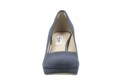 CLA Kendra Sienna-Ladies-Clarks-Navy Suede-020-D-Logues Shoes