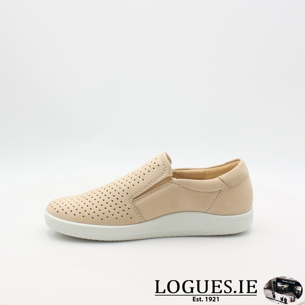 400553 ECCO 19 SOFT 1 SLIP ON, Ladies, ECCO SHOES, Logues Shoes - Logues Shoes.ie Since 1921, Galway City, Ireland.