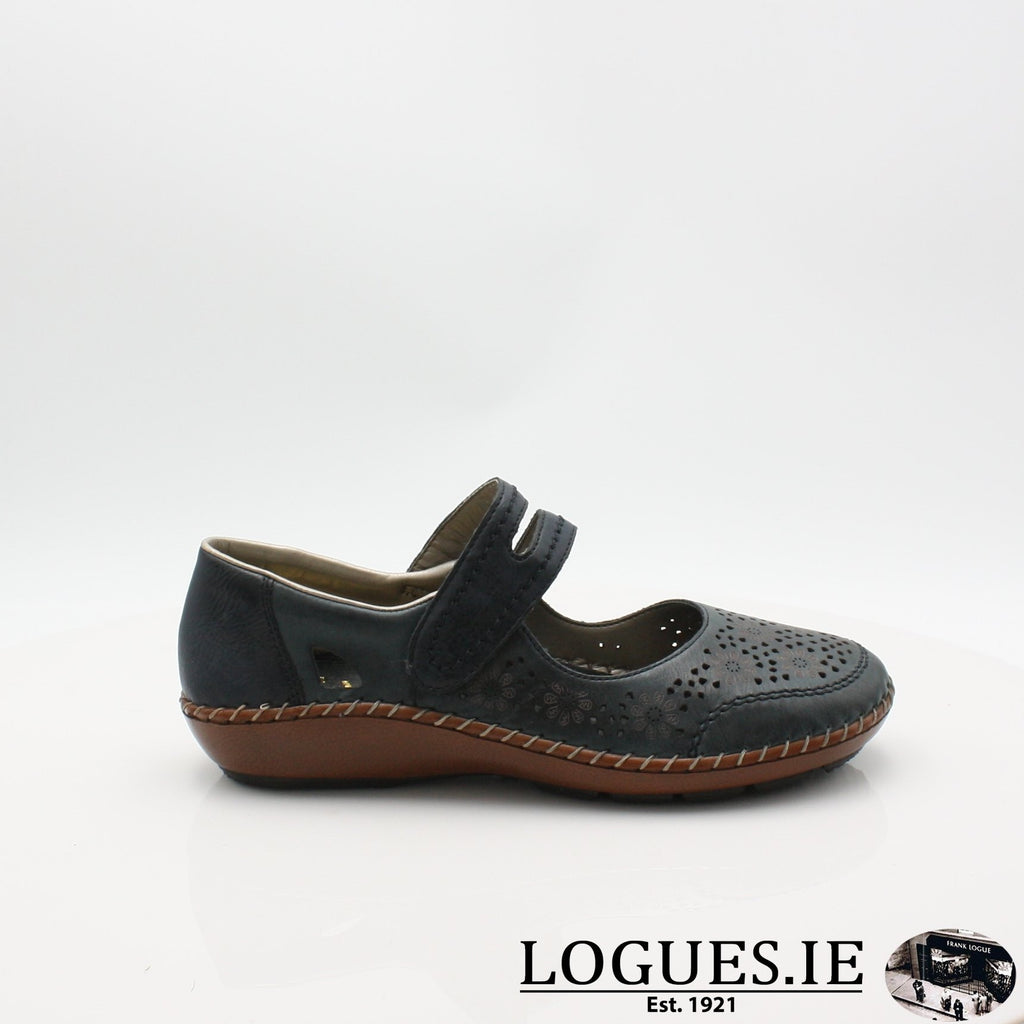 44875  RIEKER 19LadiesLogues Shoesblue 14 / 36