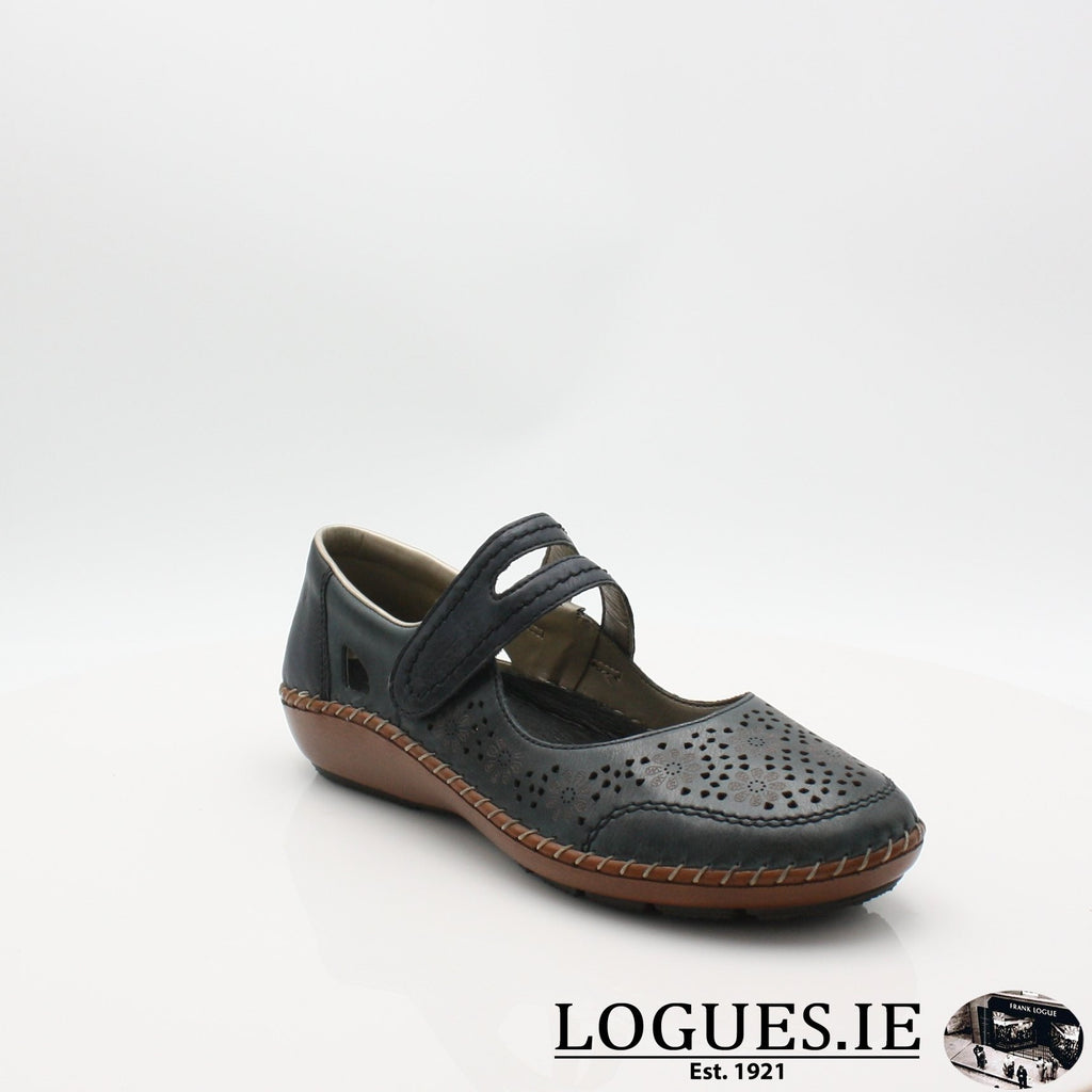 44875  RIEKER 19LadiesLogues Shoesblue 14 / 37