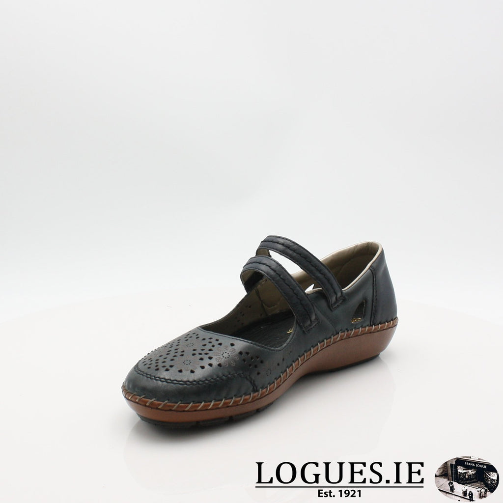 44875  RIEKER 19LadiesLogues Shoesblue 14 / 39