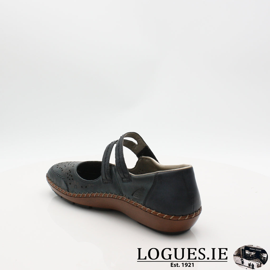 44875  RIEKER 19LadiesLogues Shoesblue 14 / 40