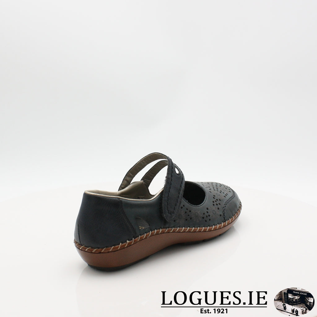 44875  RIEKER 19LadiesLogues Shoesblue 14 / 42