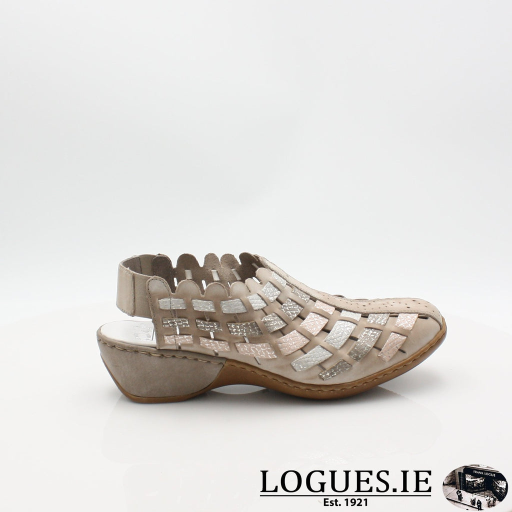 47156  RIEKER 19LadiesLogues Shoesgrey combination 43 / 36