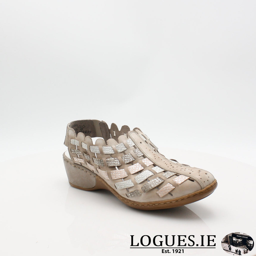 47156  RIEKER 19LadiesLogues Shoesgrey combination 43 / 37