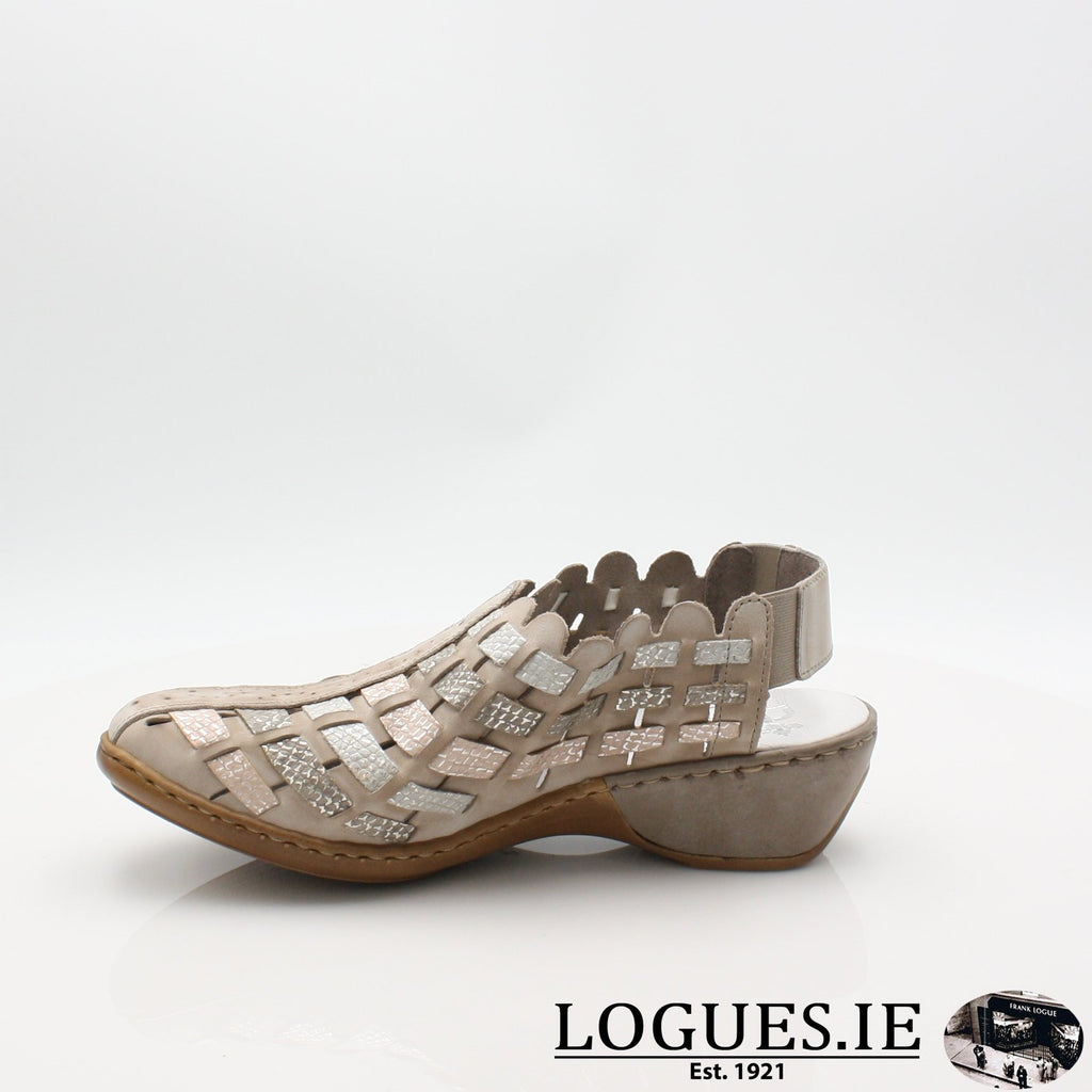 47156  RIEKER 19LadiesLogues Shoesgrey combination 43 / 39