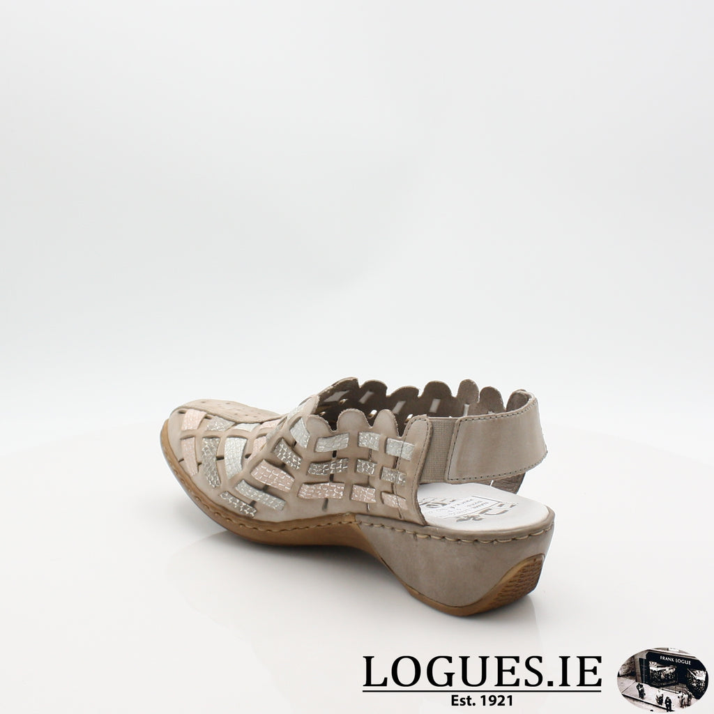 47156  RIEKER 19LadiesLogues Shoesgrey combination 43 / 40