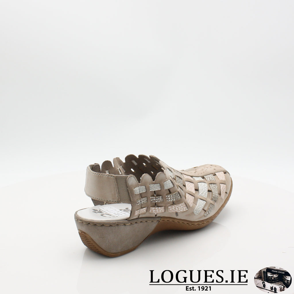 47156  RIEKER 19LadiesLogues Shoesgrey combination 43 / 42