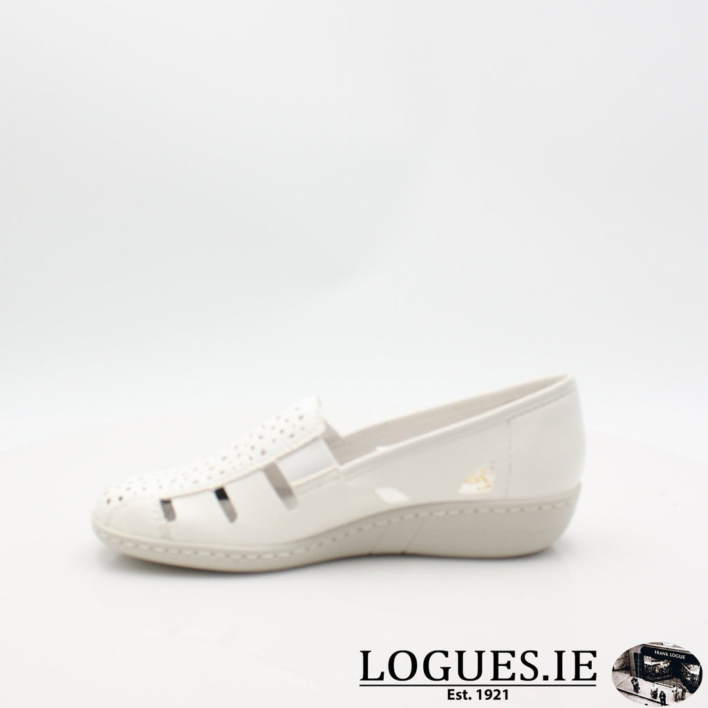 49365  RIEKER 19LadiesLogues Shoesweiss 80 / 42