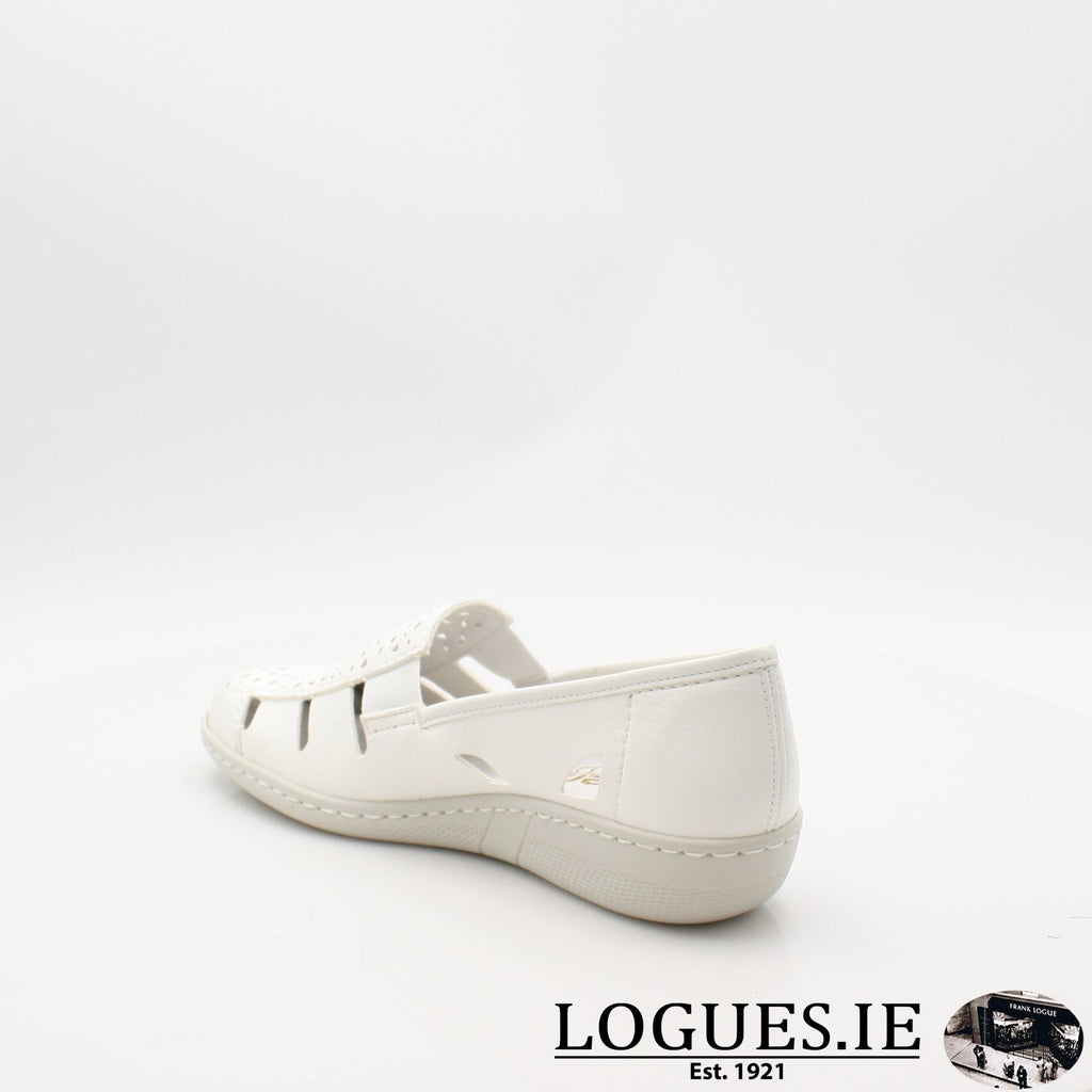49365  RIEKER 19LadiesLogues Shoesweiss 80 / 36