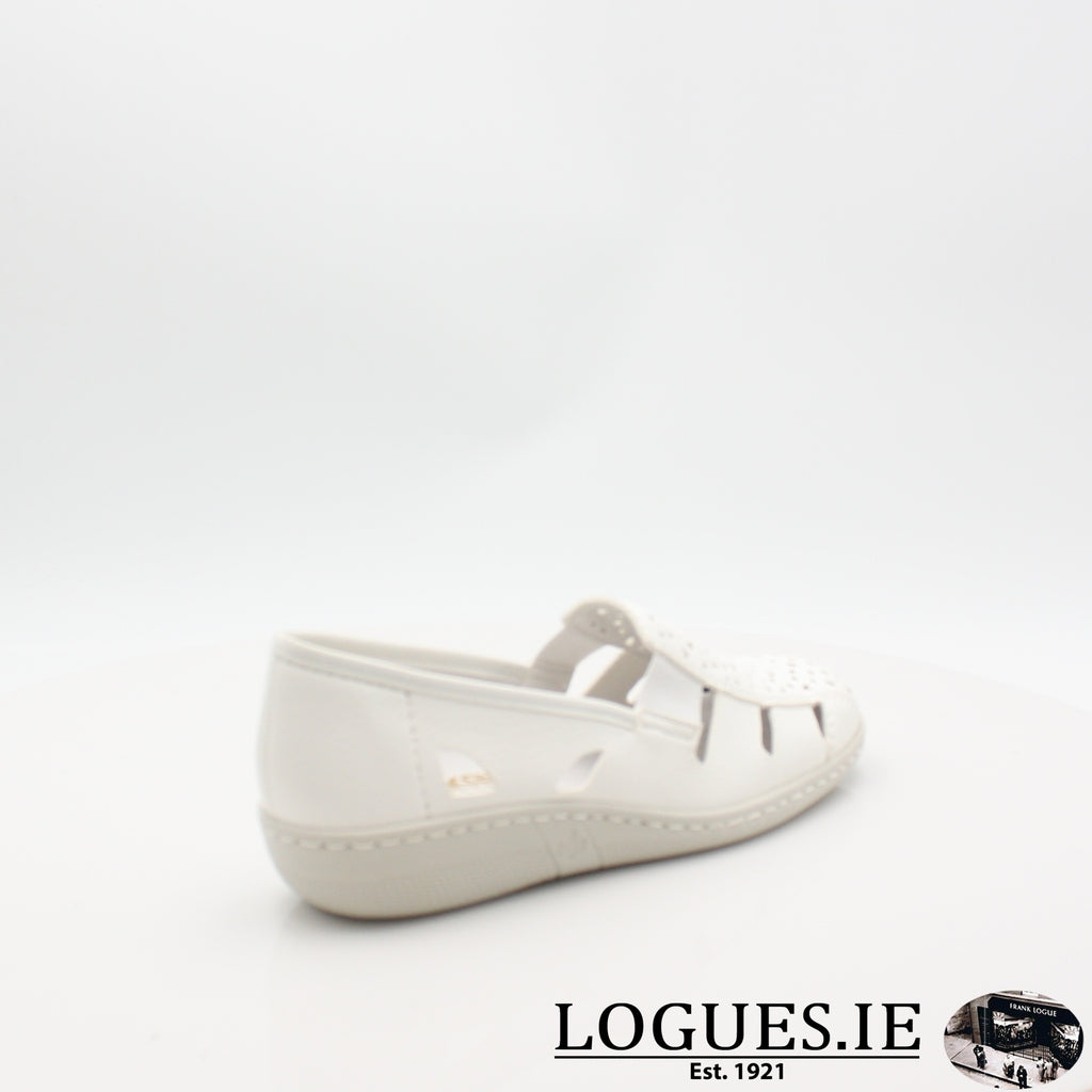 49365  RIEKER 19LadiesLogues Shoesweiss 80 / 38
