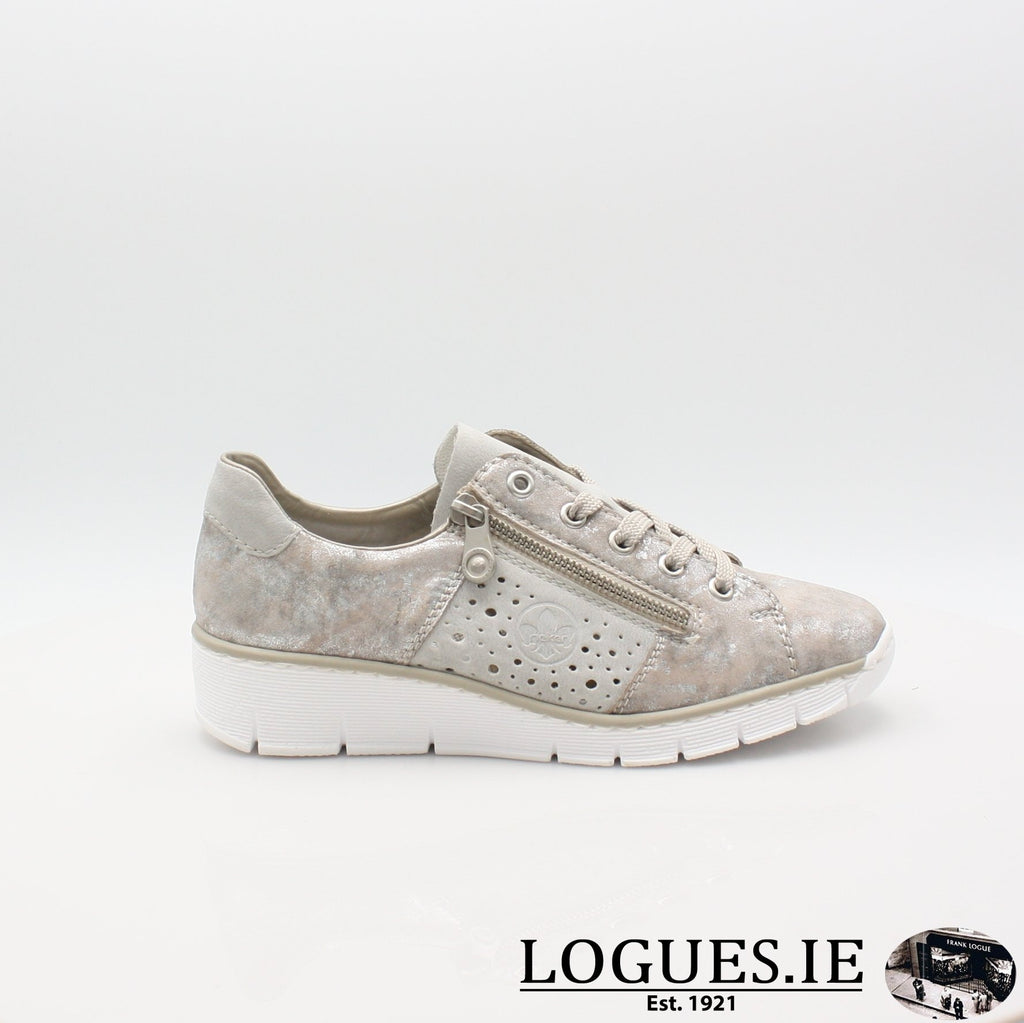 53715  RIEKER 19LadiesLogues Shoesmetallic 90 / 36