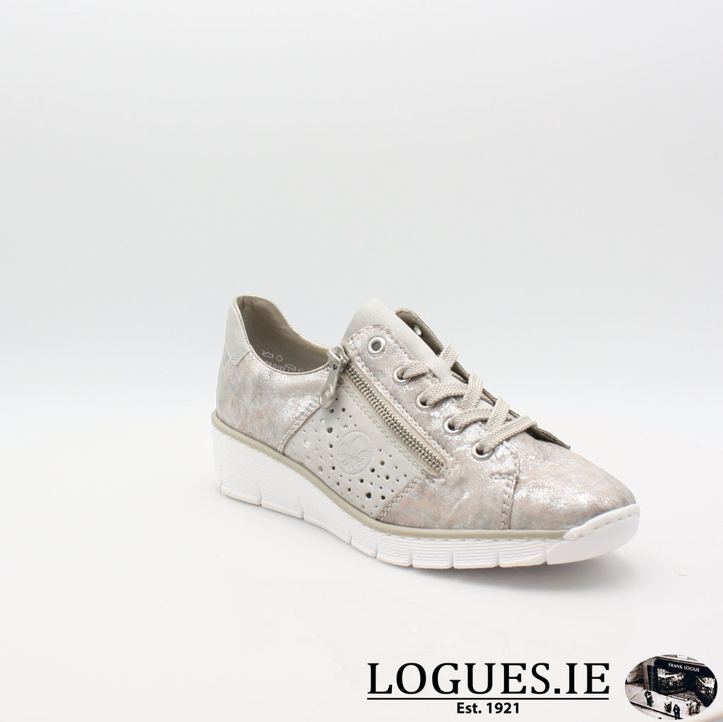 53715  RIEKER 19LadiesLogues Shoesmetallic 90 / 37