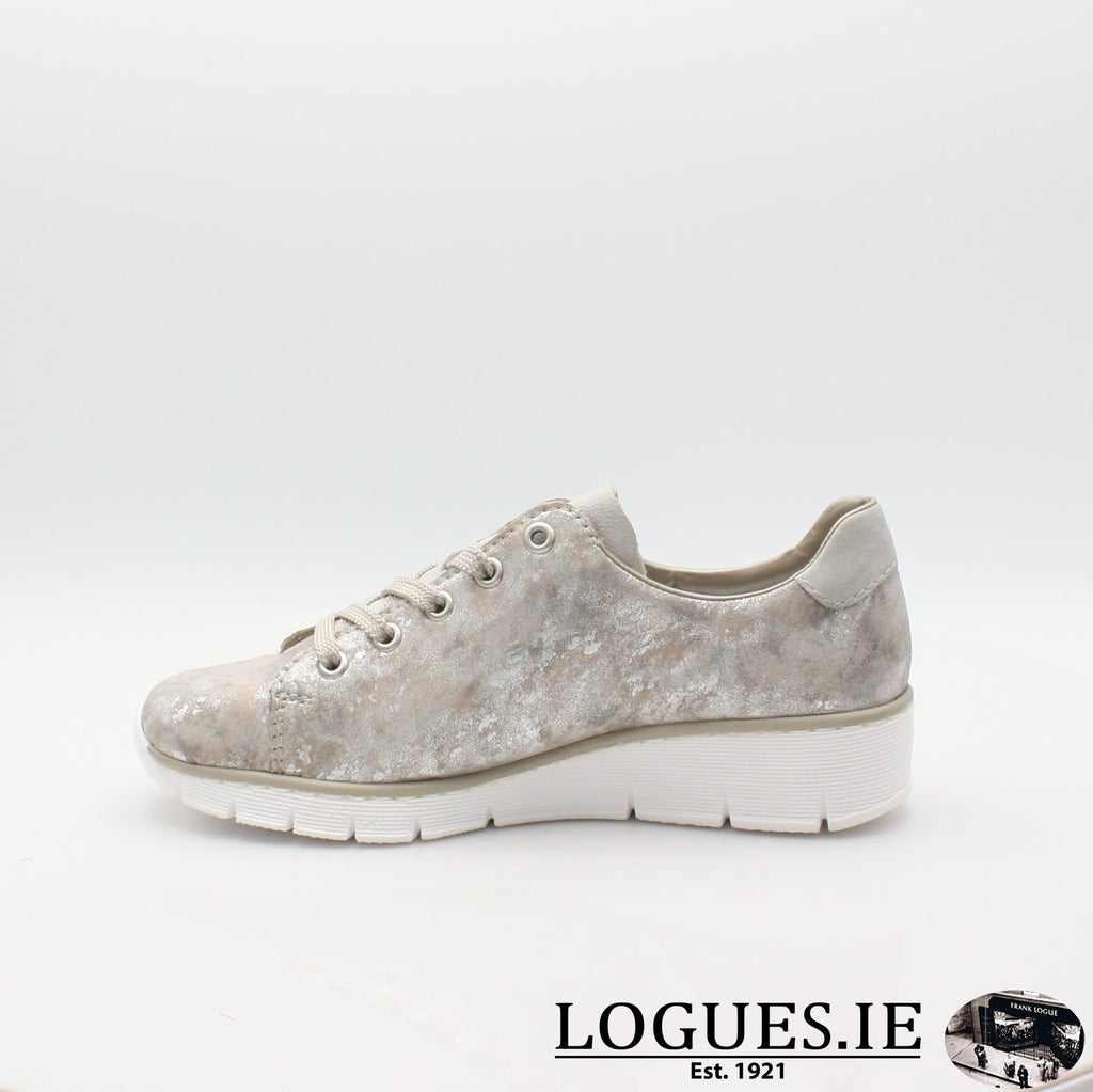 53715  RIEKER 19LadiesLogues Shoesmetallic 90 / 40
