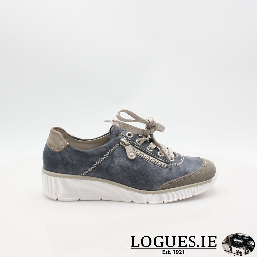 53721  RIEKER 19LadiesLogues Shoesblue combination 41 / 36