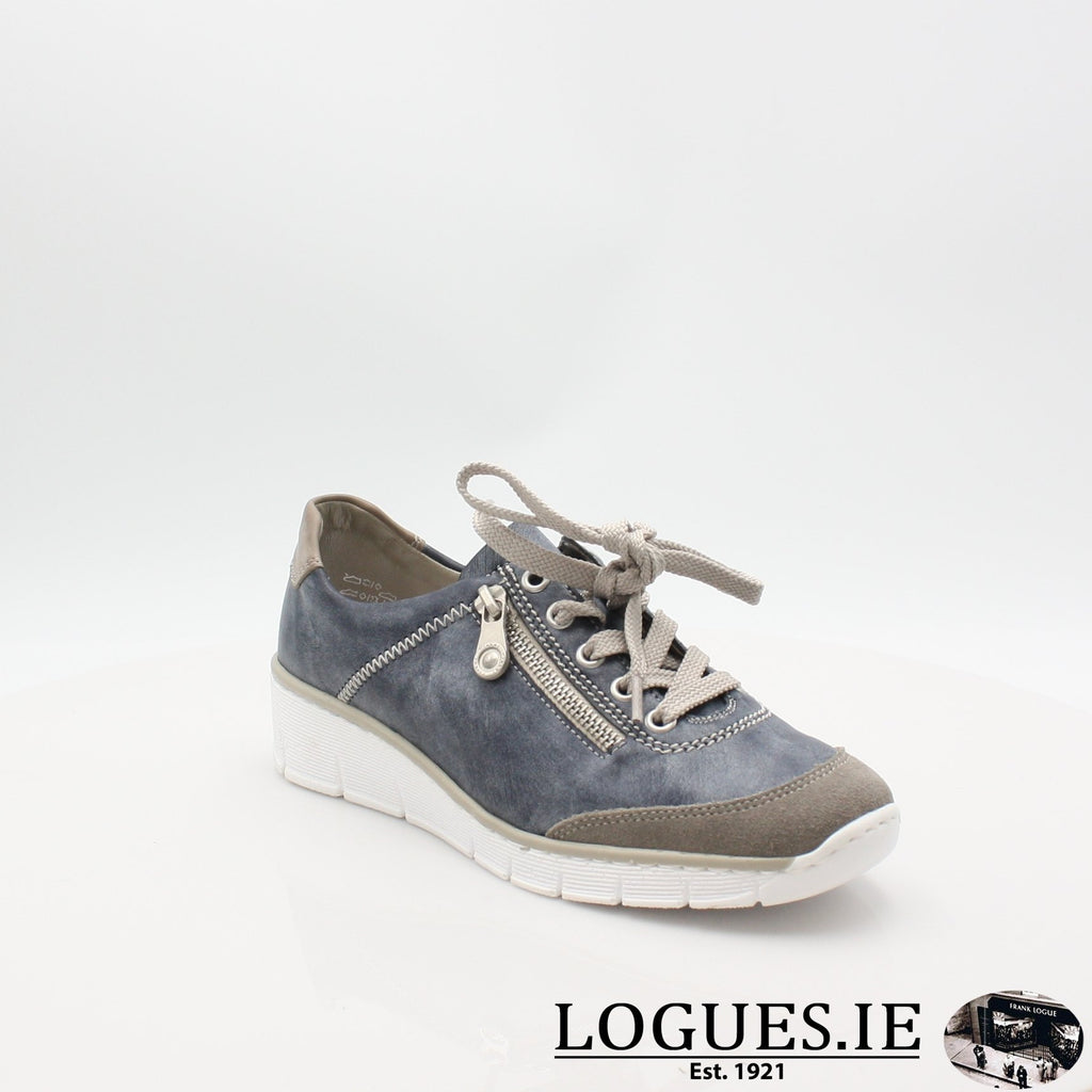 53721  RIEKER 19LadiesLogues Shoesblue combination 41 / 37
