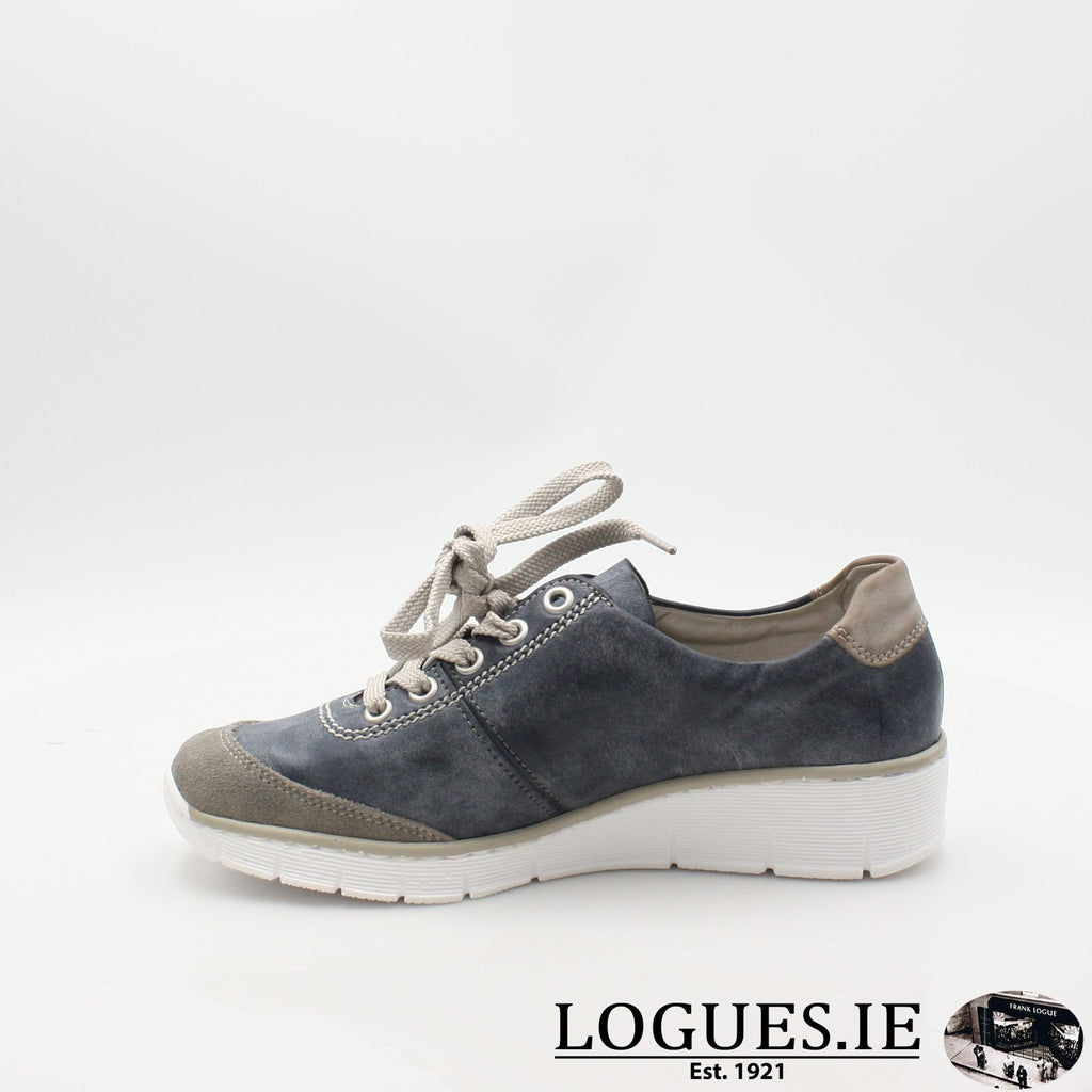 53721  RIEKER 19LadiesLogues Shoesblue combination 41 / 39