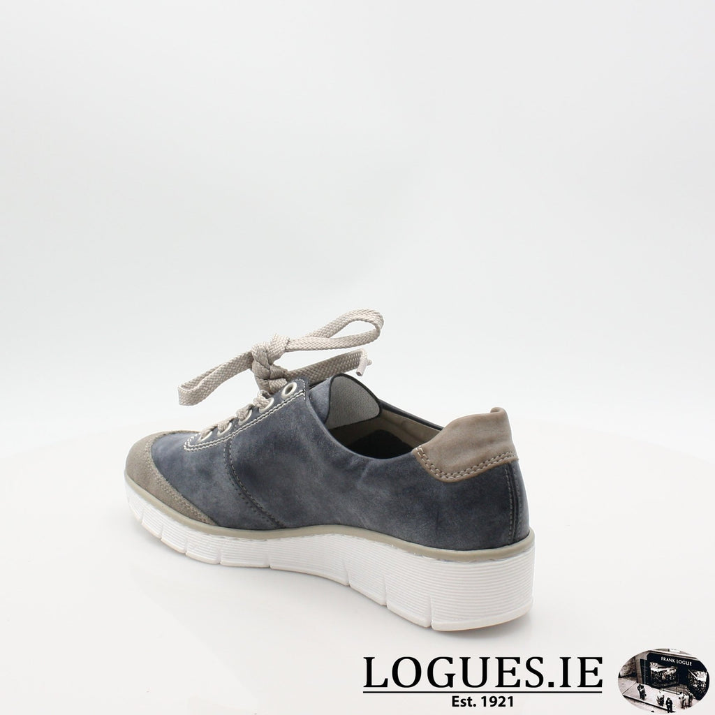 53721  RIEKER 19LadiesLogues Shoesblue combination 41 / 40