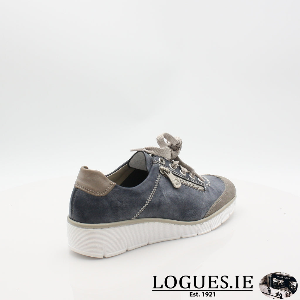 53721  RIEKER 19LadiesLogues Shoesblue combination 41 / 42