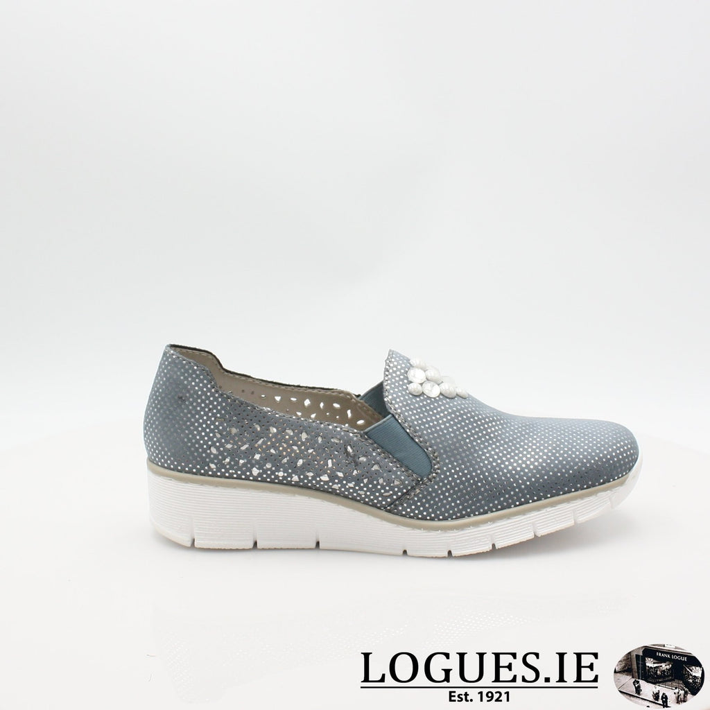 537Y5  RIEKER 19LadiesLogues Shoesblue 12 / 36