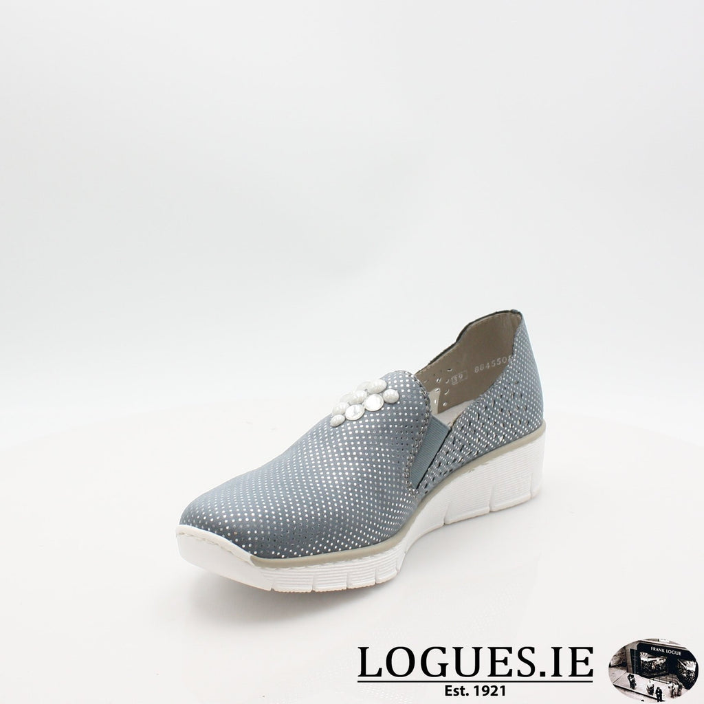 537Y5  RIEKER 19LadiesLogues Shoesblue 12 / 38