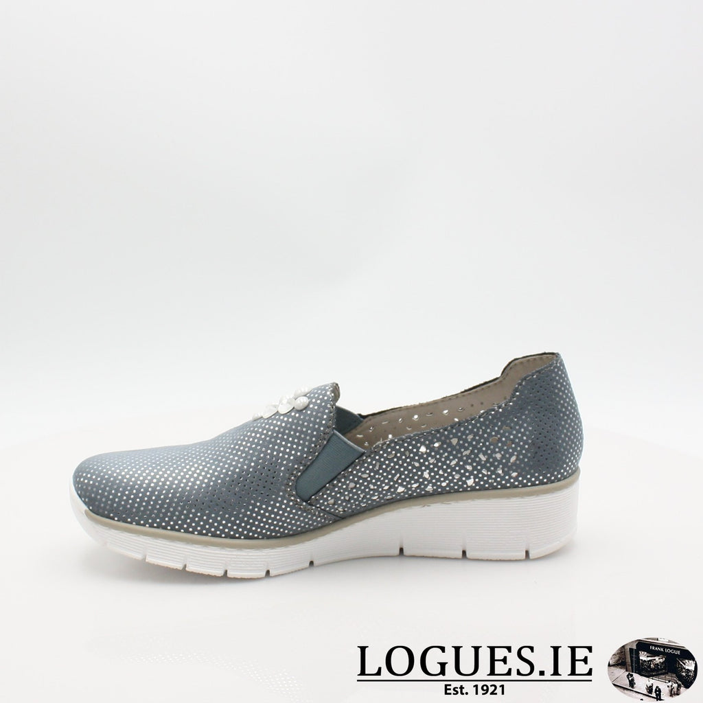 537Y5  RIEKER 19LadiesLogues Shoesblue 12 / 39