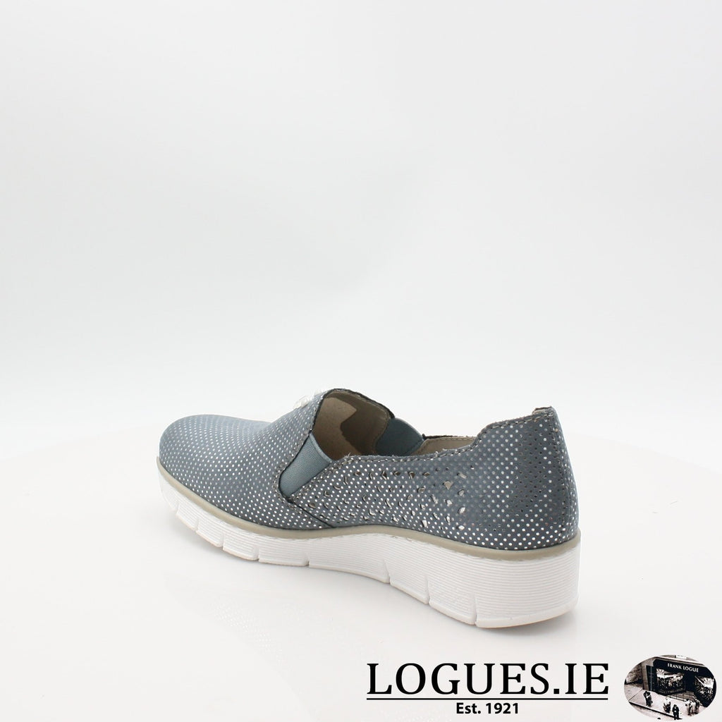 537Y5  RIEKER 19LadiesLogues Shoesblue 12 / 40
