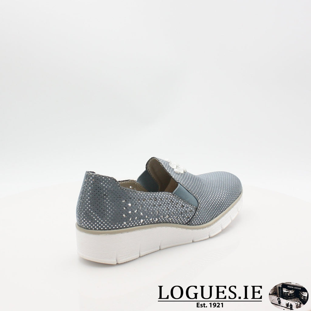 537Y5  RIEKER 19LadiesLogues Shoesblue 12 / 42