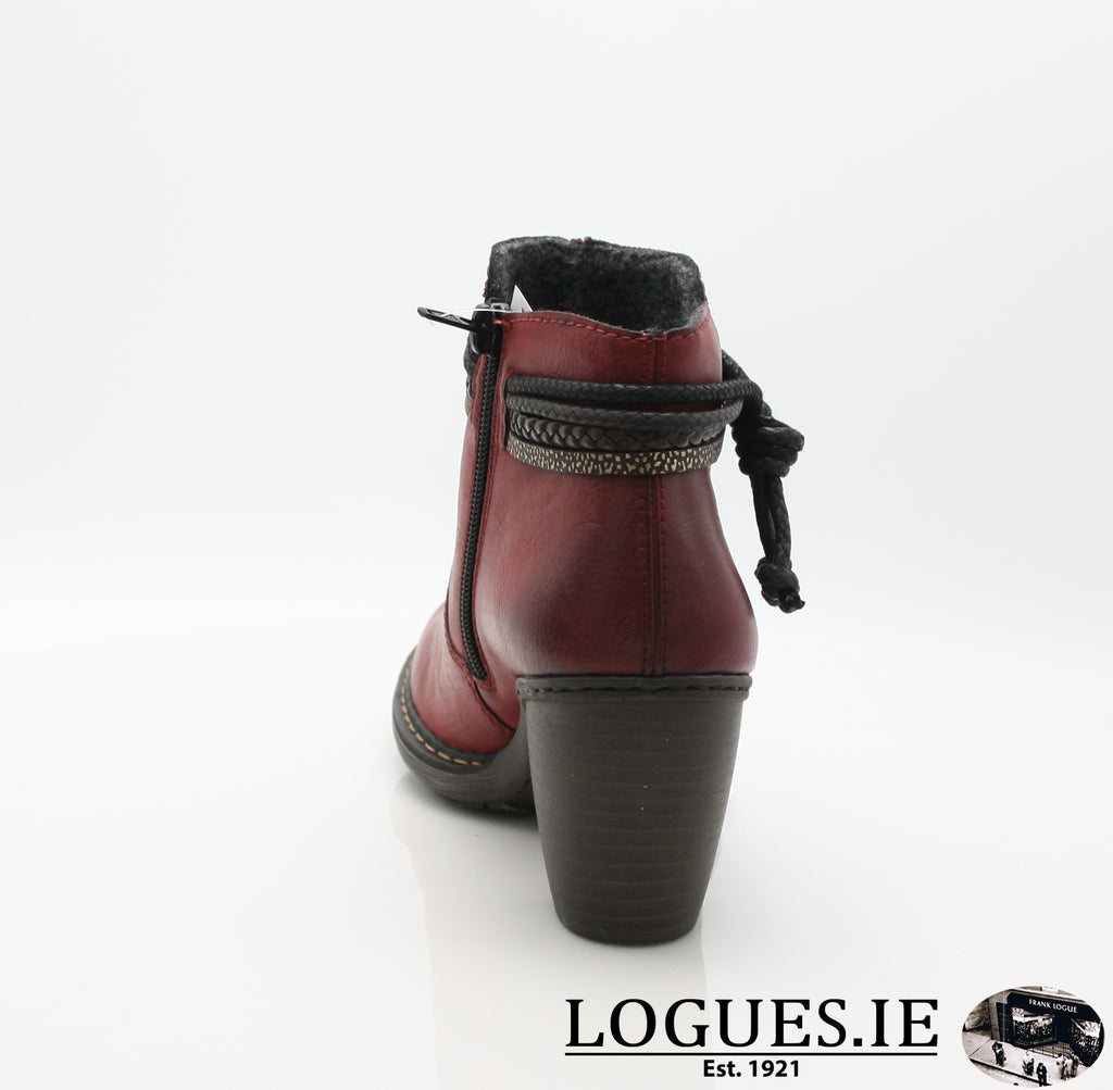 RKR 55298-Ladies-RIEKIER SHOES-wine/testadimoro/ 35-42-Logues Shoes