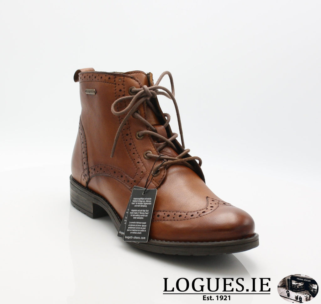 56931 BUGATTI AW18LadiesLogues Shoes6300 COGNAC / 37 = 4 UK