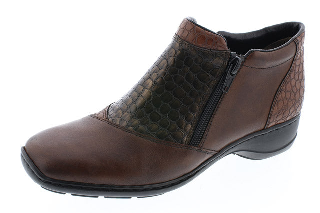 RKR 58359-Ladies-RIEKIER SHOES-25 Mahagoni/Mogano/B-36-Logues Shoes