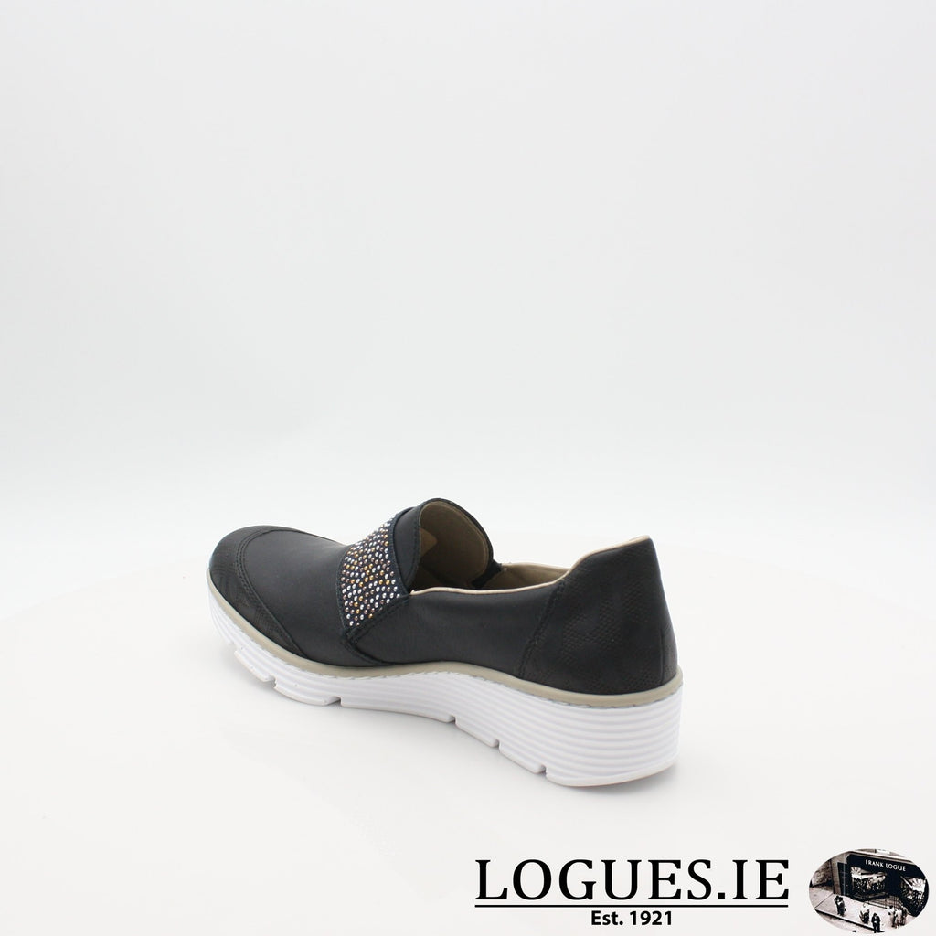 587W9  RIEKER 19LadiesLogues Shoesblue 14 / 40