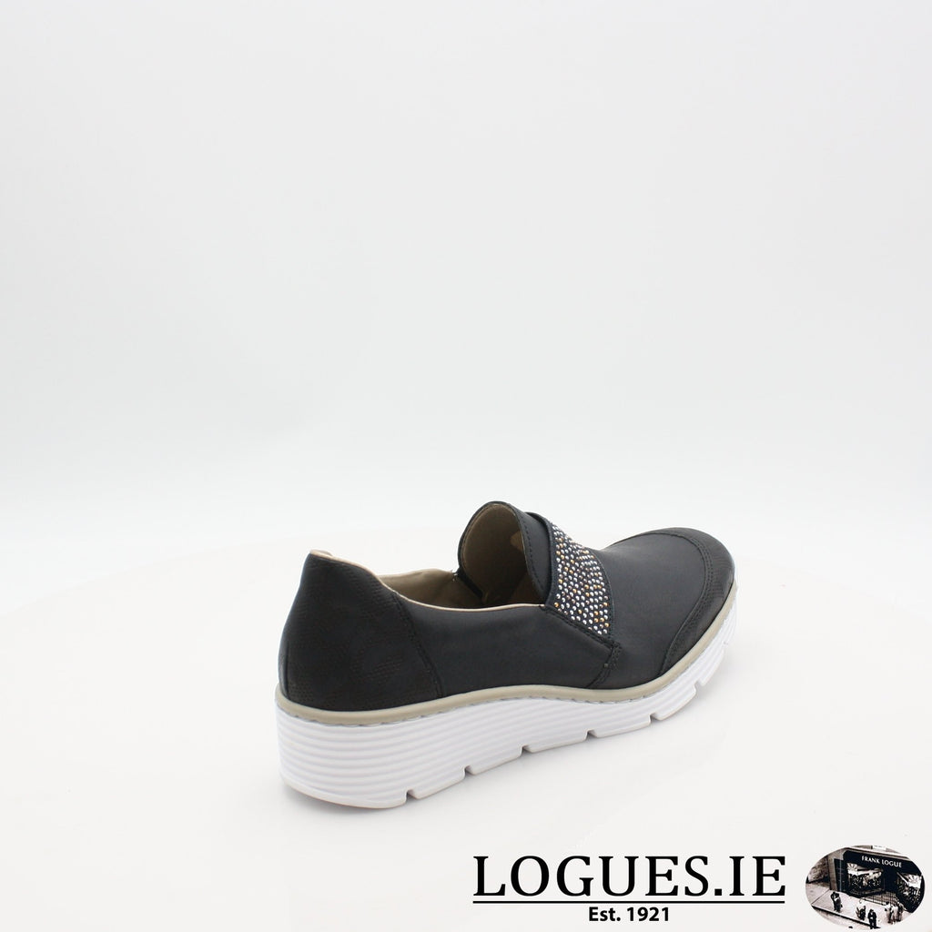 587W9  RIEKER 19LadiesLogues Shoesblue 14 / 42