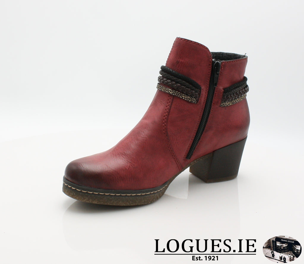 RKR 59098-Ladies-RIEKIER SHOES-wine/testadimoro/ 35-36-Logues Shoes