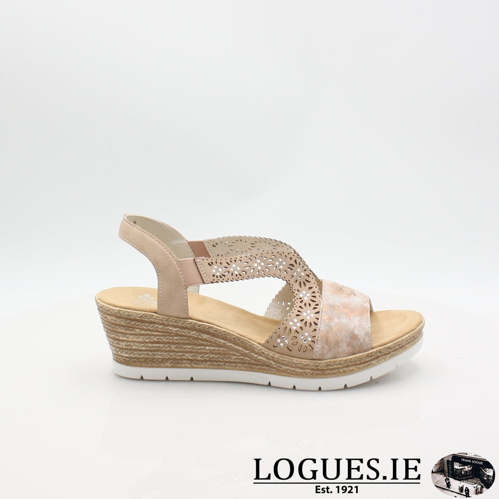61916  RIEKER 19LadiesLogues Shoesrosa 31 / 36
