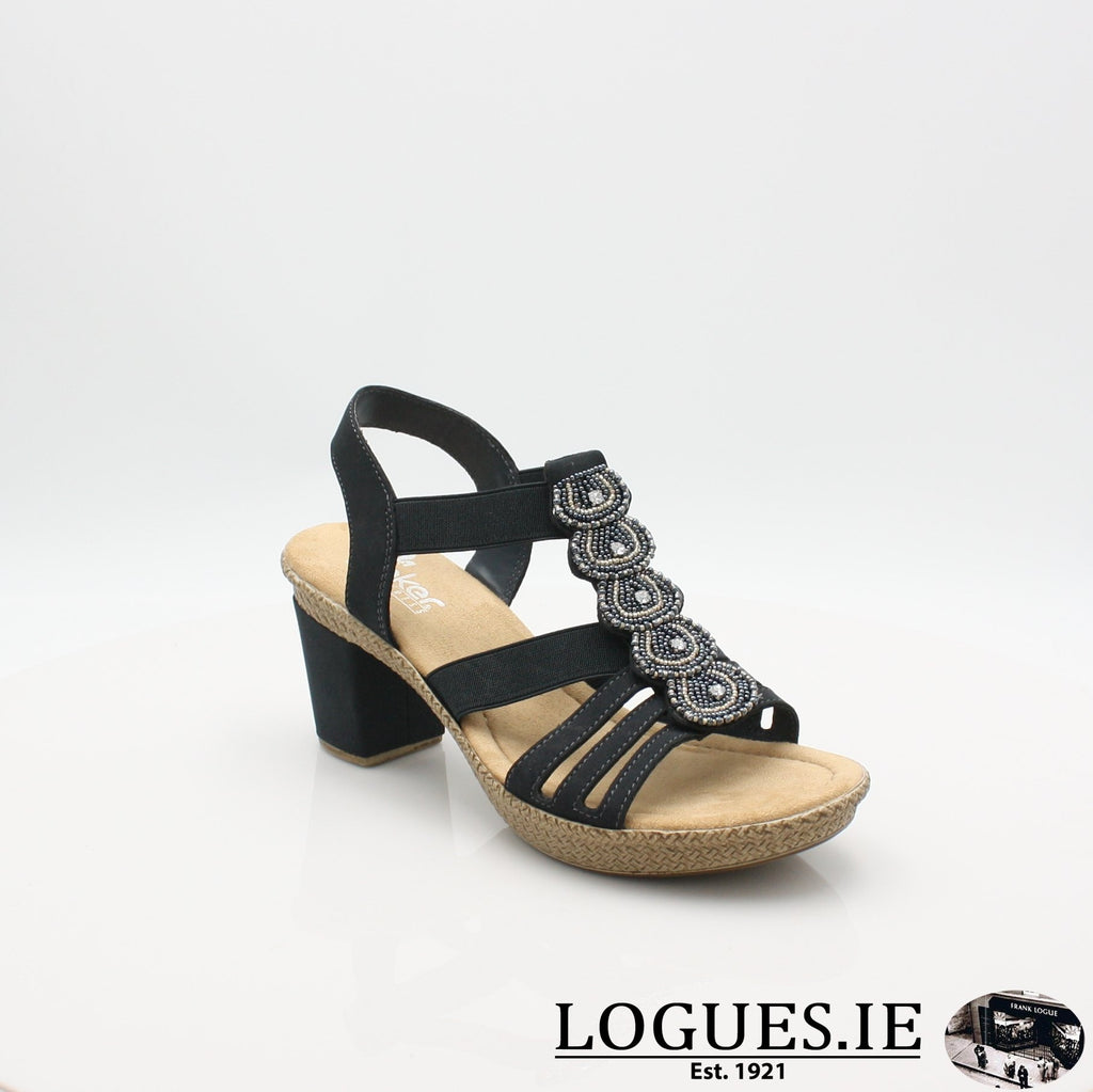 665G8 RIEKER 19LadiesLogues Shoesblue 14 / 37